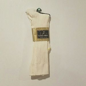 Gold Heel Ankle Socks Size 9-11 Fits 14-16Y NWT